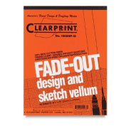 Clearprint Fade-Out Design and Sketch Vellum - Grid 22cm x 28cm x 0.3cm pack of 50 sheets