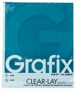 Grafix Clear-Lay Acetate Alternative 36cm . x 43cm . .005 thick pad of 25