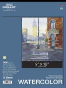 Pro Art Watercolour Paper Pad, 140-Pound Paper