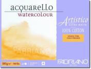 Fabriano Artistico 60kg. Rough 20 Sheet Block 23cm x 30cm - Extra White