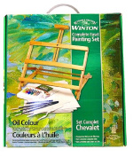 Winsor and Newton Complete Oil Colour Painting Set with Adjustable Easel