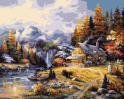 Plaid Paint by Number Kit (41cm by 50cm ), 21778 Mountain Hideaway