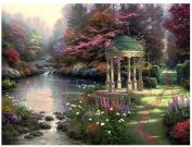 Plaid Thomas Kinkade Series Paint by Number Kit, 50cm by 41cm , Garden of Prayer