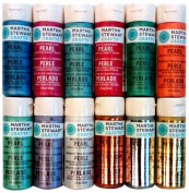 Martha Stewart PROMO769 12 Metallic/Pearl Paint Set