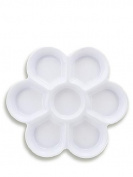 Economy Brand Seven Well Plastic Palette flower-shaped mixing palette [PACK OF 2 ]