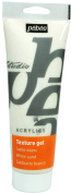 Pebeo Studio Acrylics Auxiliaries 250ml Sand Texture Gel, White Tube