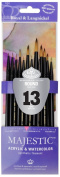 Majestic Royal and Langnickel Short Handle Paint Brush Set, Round, 13-Piece