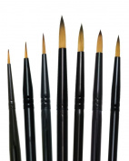 Majestic Royal and Langnickel Short Handle Paint Brush Set, Round, 7-Piece