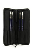 Silver Brush BR-1905X Bristlon Long Handle Brush Set with Case, 5 Per Pack