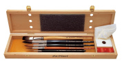 Da Vinci 5240 Watercolour Deluxe Wood Box 5 Brush Set