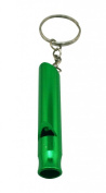 Yongshida Aluminium Whistle with Key Chain Colour Green Pack of 8