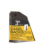 Lineco Self Stick Easel Backs black 7.6cm . pack of 5 [PACK OF 3 ]