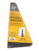 Lineco Self Stick Easel Backs black 30cm . pack of 5 [PACK OF 2 ]