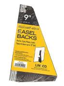 Lineco Self Stick Easel Backs black 23cm . pack of 5 [PACK OF 6 ]
