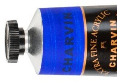 Charvin Extra-Fine Artists' Acrylic Paints 150 ml Paint Tube - Ultramarine Blue Deep