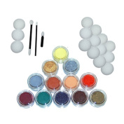 Kustom Body Art 12 Colour Secondary Face Paint Colour Set 10 ml with Applicator Kit