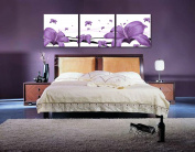 Art Deco Modern Abstract Wall Art Painting On Canvas (no Framed) with The purple lily