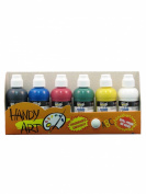 Handy Art by Rock Paint 882-047 60ml Washable Paint Markers, 6 Colour Kit