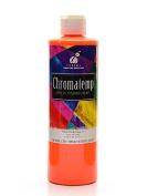 Chroma Inc. ChromaTemp Artists' Tempera Paint fluorescent orange 500ml [PACK OF 3 ]