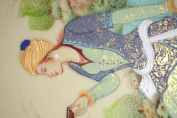 Persian Miniature Painting Traditional Cultural Historian Rumi Fine Art Persian Traditional High End Art Master Amde Museum Peice of Art