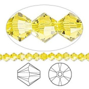 . Crystal 5328 4mm XILION Citrine (Yellow) Bicones - 48 Pack