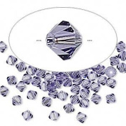 . Crystal 5328 4mm XILION Tanzanite (Purple) Bicones - 48 Pack