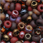 Czech Seed Beads 8/0 Chocolate Mud Pie Mix Brown