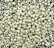 Miyuki Round Seed Bead Size 11/0 8.5g-tube Galvanised Silver