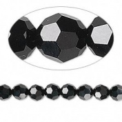 . Crystal 5000 6mm Jet (Black) Faceted Round Beads - 12 Pack