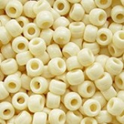 JOLLY STORE Crafts Ivory Pony Beads 9x6mm 500pc