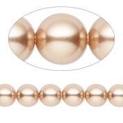 6mm Round. Rose Gold Pearls (5810) Package of 50