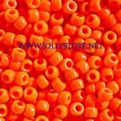 JOLLY STORE Crafts Neon Orange Pony Beads 9x6mm 500pc