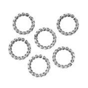 Nunn Design Antiqued Silver Plated Open Jump Rings Twist 11.5mm 14 Gauge
