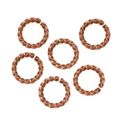 Nunn Design Antiqued Copper Plated Open Jump Rings Twist 11.5mm 14 Gauge
