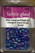 Fashion Glass Beads - Blue Round/Oval Mix - #88604