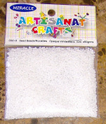 Seed Beads Opaque White 10/0 50 Grammes Arts & Crafts
