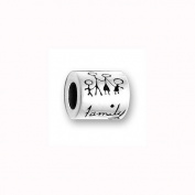 Charm Factory CFPBD380 Pewter Family Message Bead