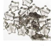 Grey Star Czech Pressed Glass Beads