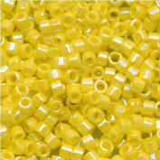 Miyuki Delica Seed Beads 11/0 DB160 Opaque Yellow AB 7.2 Grammes