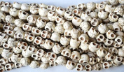 10 Bone White Howlite Skull Beads (Loose) - Day of the Dead