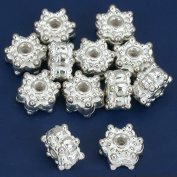 Star Bali Beads Silver Plated Beading 8mm Approx 12