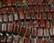 Czech 3 x 6mm Brick Beads PICASSO UMBER