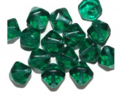 Teal Diamond Czech Pressed Glass Beads