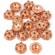 Bali Bead End Caps Copper Plate Beading 9.5mm Approx 20