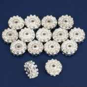 Bali Spacer Beads Silver Plated Beading 9mm Approx 15