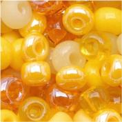 "Czech Seed Beads 15cm Daffodil Yellow"" Mix Lemon"