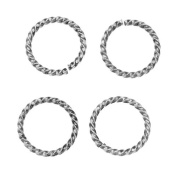 Nunn Design Antiqued Silver Plated Open Jump Rings Twist 17mm 15 Gauge