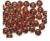 Flat Rondelle Bright Copper Metalized Metallic Beads