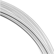 Silver Plated German Bead Craft Wire 24 Gauge .5 Dia 12 Metres