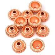 Dot Bali Bead Caps Copper Plated Beading 13mm Approx 10